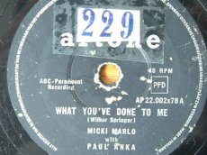 ANKA, PAUL & MICKI MARLO - WHAT YOU'VE DONE TO ME