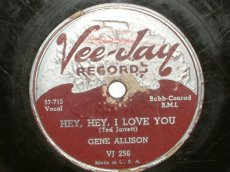 ALLISON, GENE - HEY, HEY, I LOVE YOU