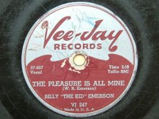 "EMERSON, BILLY ""THE KID"" - THE PLEASURE IS ALL MINE"