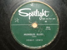 LEWIS, BOBBY - MUMBLES BLUES