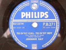 78R070 RAY, JOHNNY - TO EV'RY GIRL-TO EV'RY BOY