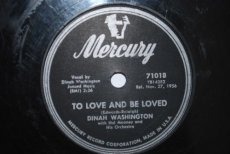 WASHINGTON, DINAH - TO LOVE AND BE LOVED